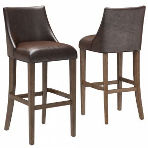Restoration Hardware Ella Leather Armless Stool