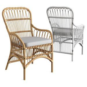 Rattan Loop Armchair With Seat Cushion