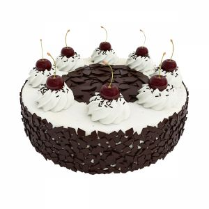 Cherry Cake With Chocolate