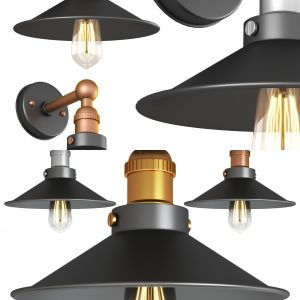 Retro semi flush wall light and ceiling light
