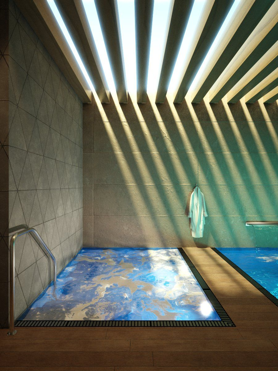 Interior 001 Swimming Pool - 3D Model For Vray, Vray-4372