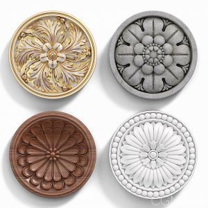 Decorative Wall Rosettes 03