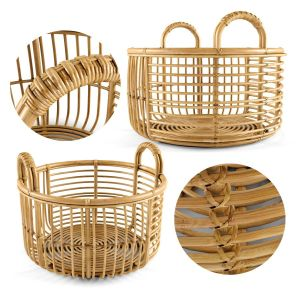 Java Rattan Baskets Low