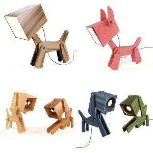 4 Dogi Adjustable Wooden Table Lamp
