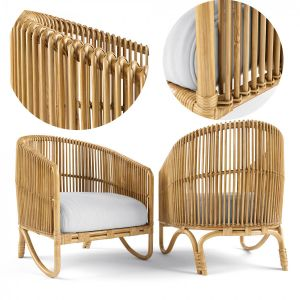 Tara Rattan Lounge Chair