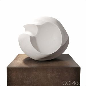 James Oughtibridge White Blade Form Sculpture