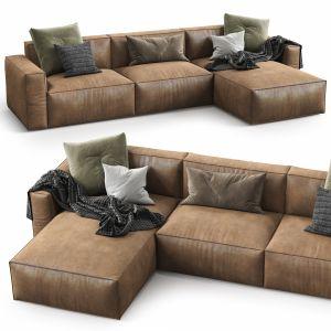Room108 Leather Sofa Elise Stretch