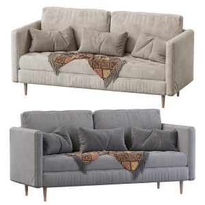 "Monroe Mid-century Tufted Seat Sofa (86"")"