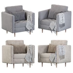 Monroe Mid-century Tufted Seat Chair And A Half