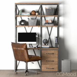 French Library Single Desk With Drawers