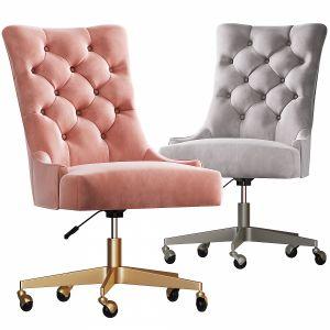 Rh Martine_adjustable velvet desk Chair