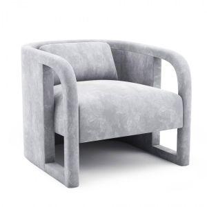 Milo Baughman Pair Of Curved Velvet Club Chair