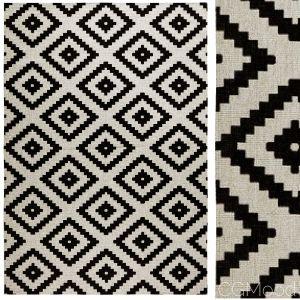 Malta Black/cream Reversible Rug
