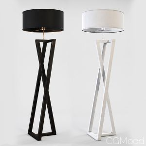 Floor Lamp Black And White Wood