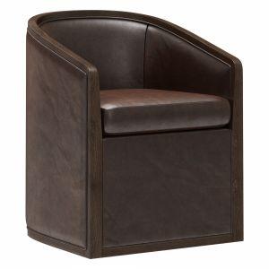 Restoration Hardware Dixon Base Leather Armchair