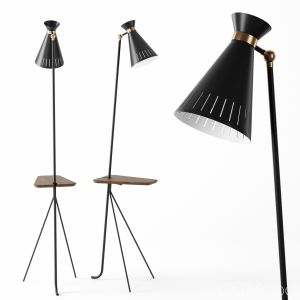 Cone Floor Lamp With Table By Warm Nordic