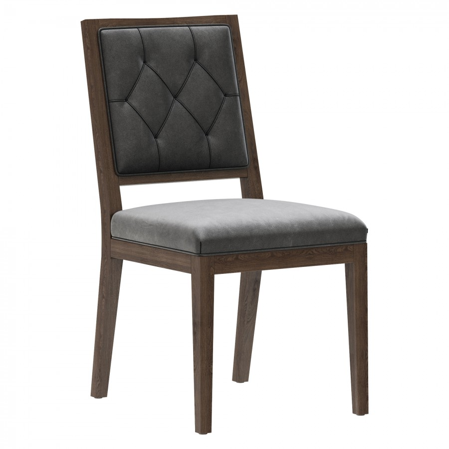 Restoration Hardware French Tufted Square Chair - 10D Model for VRay