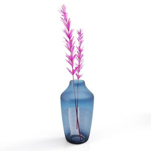 Set Vases-no4- Glass Blue Vase
