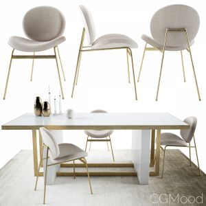 Jane Dinning Chair And Whitney Dining Table By