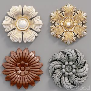 Decorative Wall Rosettes 04
