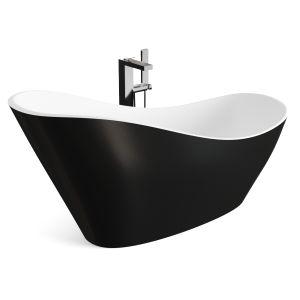 Black Acrylic Cabinet Bathtub