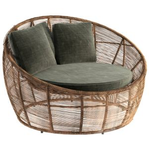 Tamarin Round Gray Resin Wicker Garden Armchair