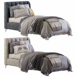 Bed Blush Lizbeth Velvet Single Bed 2 Set 65