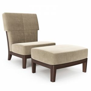 Jiun Ho - Ceylon Chair And Ottoman