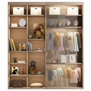 Wardrobe with decor 1 Set 01