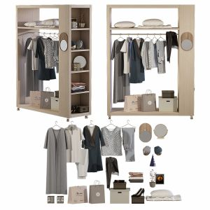 Wardrobe with decor  Set 02