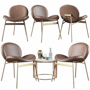 Lounge Chair Jane And Side Table Messina Nesting W