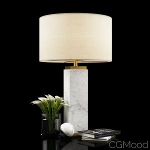 Square Column Marble Table Lamp