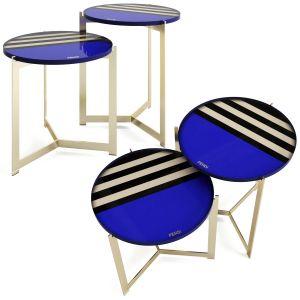 Fendi Casa Ripple Pequin Coffee Tables