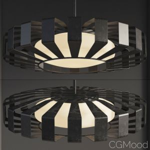 Spoked Saucer Chandelier - Small