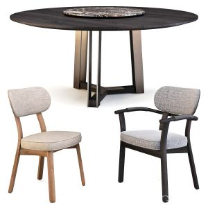 Porada: (table - Shibumi Tondo & Chairs - Evelin)