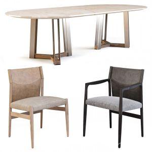 Porada: (table - Shibumi Ovale & Chairs - Sveva)