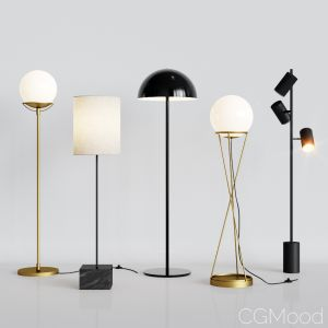 Cb2 - 5 Floor Lamps Set 2