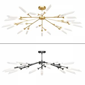 Matt Black Gold Led Chandelier