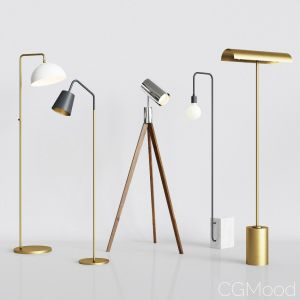 Cb2 - 5 Floor Lamps Set 3