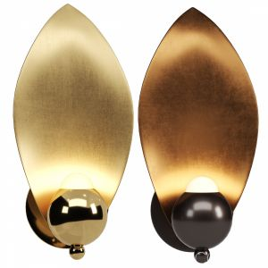 Sconce Lavra Wall Lamp Gold / Mocha