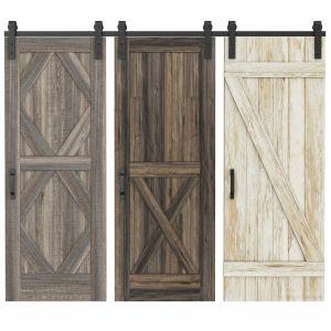 Rustic interior doors Set 76