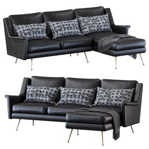Carlo Mid-century 2-piece Chaise Sectional