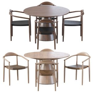 Janice Dining Chair And Janice Dining Table Round
