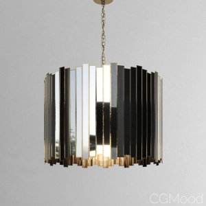Grayson drum chandelier