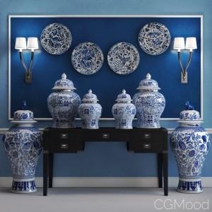Eichholtz Vases, Desk and Lamp
