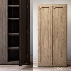 Martens panel double-door cabinet
