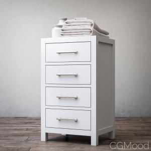 Hutton four-drawer base