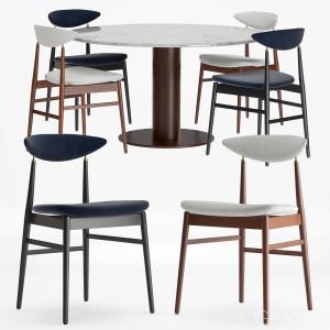 Gent Dining Chair - Fully Upholstered, Gubi