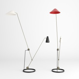 Equilibrium Double-branch Floor Lamp By Pierre Gua