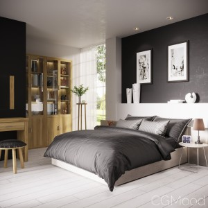 Bedroom Completely finished 3d scene